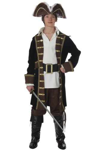 [Fun Costumes unisex-adult Teen Realistic Pirate Costume Teen] (Authentic Pirate Coats)