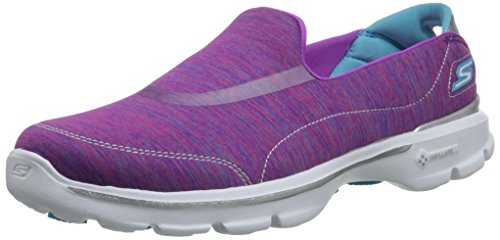 Skechers Go Walk 3 Force - Zapatillas De Deporte Mujer Pink/Blue