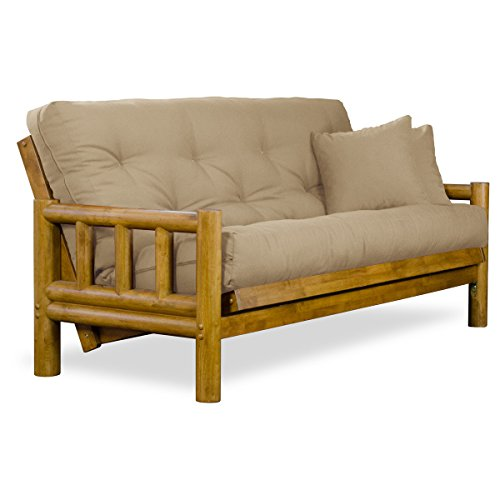 Rustic Tahoe Log Futon Sofabed Set - Queen Frame, 8
