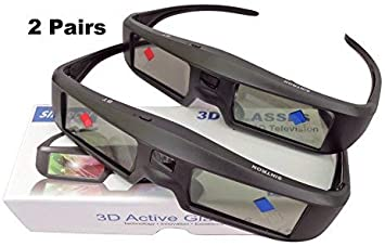 Sintron 3D Active Shutter Glasses Rechargeable ST07-BT For RF/Bluetooth Sony, Panasonic, Samsung 3D TV & Epson 3D projector, 3D Glasses Eyewear Compatible TDG-BT500A TY-ER3D5MA TY-ER3D4MA (2 Pairs