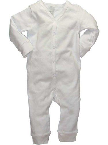 Daydreamers One-Piece Long Sleeve Long Pants Bodysuit Unisuit White - Medium