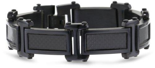 Black Tone Stainless Steel Carbon Bracelet