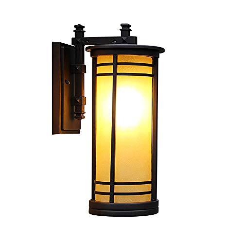 MMJ Villa lámpara de Pared para jardín - Fila casa Puerta Piedra Pilar lámpara Exterior lámpara de terraza Impermeable...