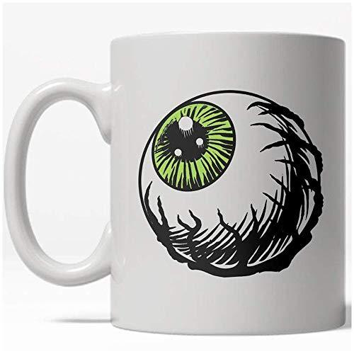 Eyeball Mug Funny Halloween Scary Coffee Cup - 11oz]()