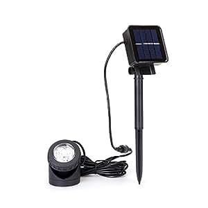 Solar Station Solar Powered Pond Lights with 6LEDS 90°Adjustable Waterproof Outdoor Led Spotlights for Garden,Yard