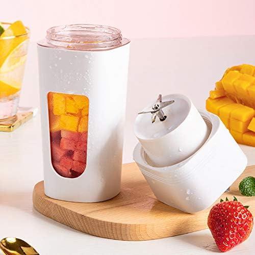 Blender Portable pour les fruits à la main ou smoothie légumes Mini Juicer avec rechargeable USB pour l'extérieur, Voyage,Rose