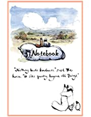 Notebook - Journey for the conversations of a curious boy, a wise horse a greedy mole, and a wary fox journal 3: Journall_6in x 9in x 114 Pages White Paper Blank Journal with Black Cover Perfect Size