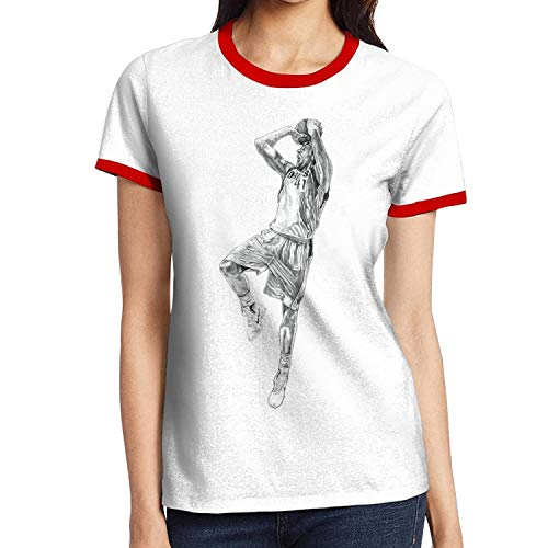 Womens American Basketball Contrast Short T-Shirt Performance Classic Casual