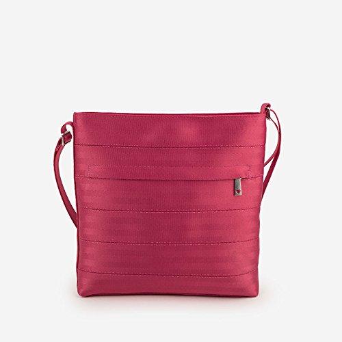 Satchel Slip Woven (Harveys Women's Streamline Seatbelt Crossbody Purse Bag (Razzleberry))
