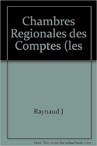 Livre Chambres Regionales des Comptes (les pdf