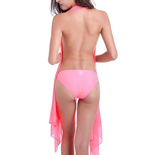 LUOEM Sexy Frauen Strandkleid Bikini Cover up Kleid Rock