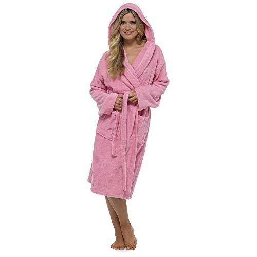 Terry Donna towelling Direct HOTEL Vestaglia SPA Deals Best cotone Pink vestaglia INSEGNA 100 Hooded Soft twYqx5Xwp