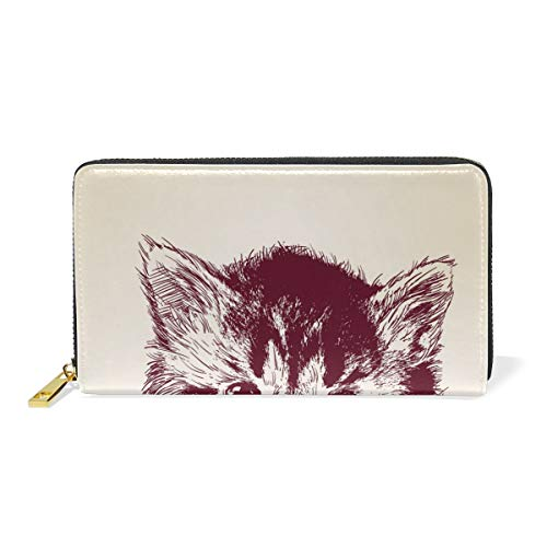 Purses And Around Cat TIZORAX Clutch Womens Zip Organizer Wallet Handbags tHqXHw