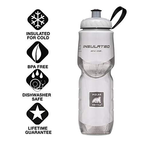 Polar Bottle Insulated Water Bottle (24-Ounce) (White) ()
