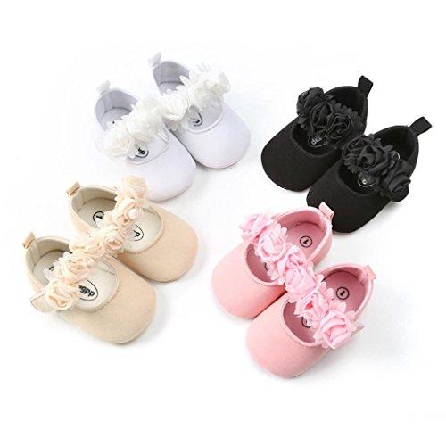 Huhu833 Babyschuhe, Baby Kleinkind Mädchen Prinzessin Schuhe Blumen Mode Kleinkind Kinderschuhe Soft Anti-Rutsch Schuhe