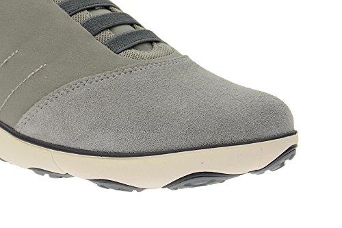 Geox - Zapatillas de Piel para hombre Gris gris gris