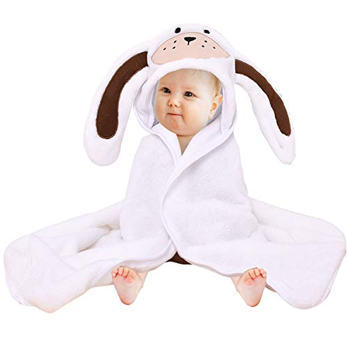 Baby Hooded Towel Flannel Washcloth Bath Blanket, Yinuoday Premium Absorbent Soft Infant Toddler Cute Animal Hooded Bath Towel Baby Shower Gift for Baby Boys and Girls/31