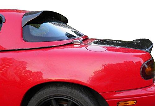HK5 1990-1997 Mazda Miata ABS Plastic Unpainted Black Rear Roof Spoiler Wing