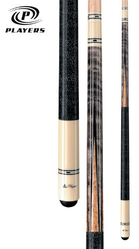 Players C-9921 Classic Smoke-Stained Birds-Eye Maple with Inlay Points and Cream Butt Cue, 19-Ounce