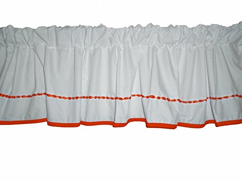 Baby Doll Bedding Unique Window Valance, Orange by BabyDoll Bedding