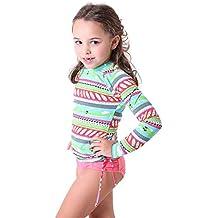 Camiseta Kids Manga Longa UV Anchor Girls - Est. Pranchas 06