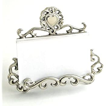 Amazon Com Nickel Victorian Business Card Holder With Heart Home
