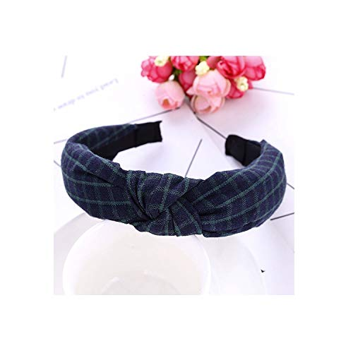 2019 New Women Hair Accessories Cotton Plaid Hairband Knot British Style Striped Fabric Headband,Green- (Best Gta 5 Outfits 2019)