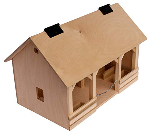 (Amish-Made Toy Wooden A-Frame Barn)