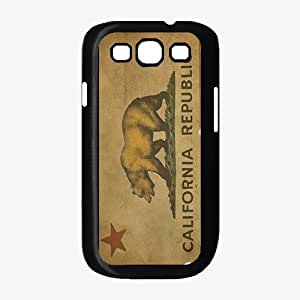 California Republic Flag - Phone Case Back Cover (Galaxy S3 - TPU Rubber Silicone)