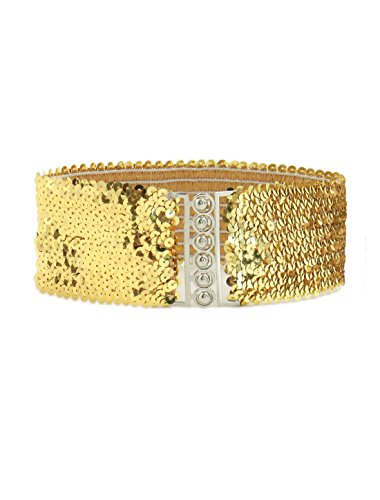 uxcell Sequins Interlocking Buckles Elastic