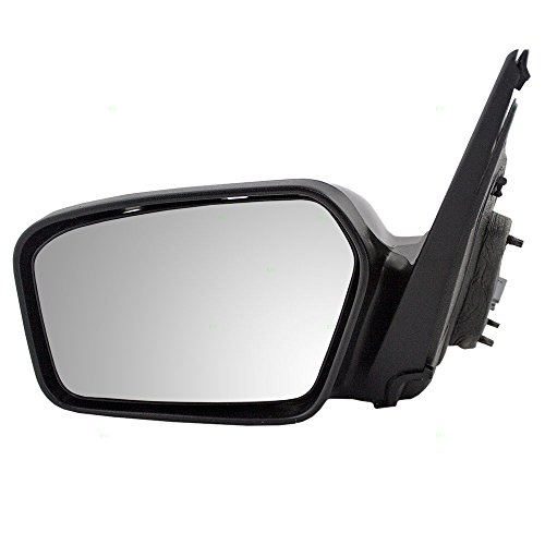 Drivers Power Side View Mirror with Smooth & Textured Covers Replacement for Ford Mercury 6E5Z17683A