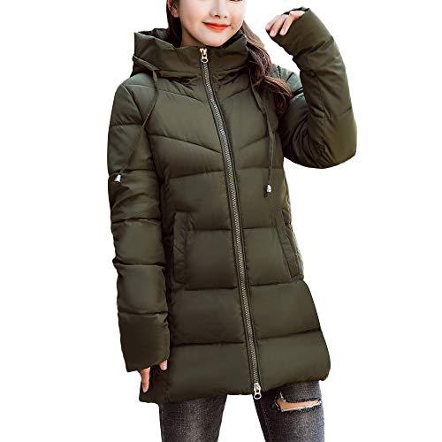 BETTERUU UFACE Women Winter Warm Faux Fur Hooded Thick Warm Slim Jacket Long Overcoat ()
