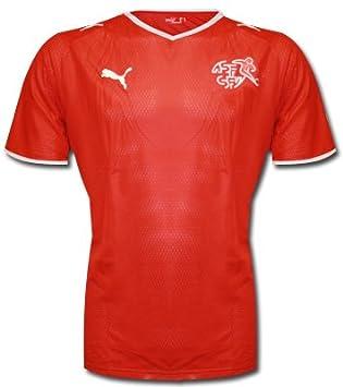Puma National Camiseta Home Camiseta Suiza, Hombre, Rojo, Small