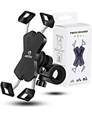 Grefay Bike Phone Mount Metal Motorcycle Smartphone Holder for Handlebar Cradle Clamp with 360 Rotate 4.0-7.0 inch Device