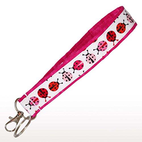 Pink Ladybug Key Fob - 6
