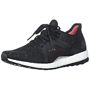 adidas Women's Pureboost X Element Running Shoe, Grey Five/Core Black/Real Coral, 6.5 M US