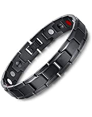 Medical energy bracelet with germanium stone and magnet to get rid of electrical charges in the body and the balance of black color men