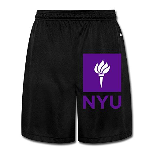 HandSon Men's Vintage New York University NYU Short Sweatpants Black Size XL