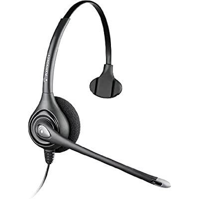 Plantronics SupraPlus HW251N DA-M Wideband USB Noise Cancelling Headset for Microsoft Office Communicator Black