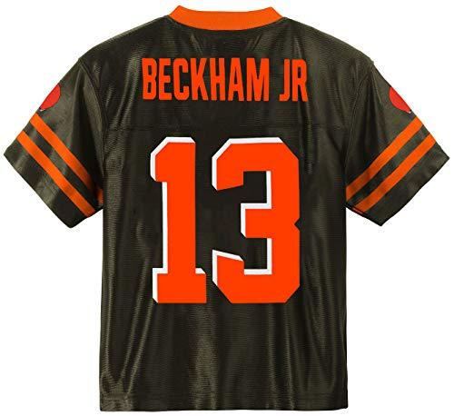 Outerstuff Odell Beckham Jr Cleveland Browns #13 Brown Youth Player Home Jersey (Medium 10/12)