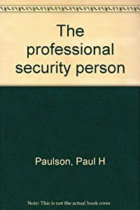 Hardcover The professional security person Book