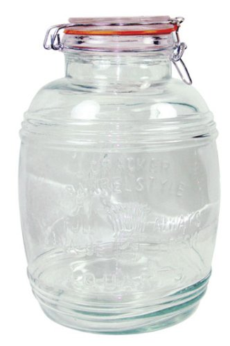 grant howard 50133 large cracker barrel jar with air tight wire bail closure 4 - Large Glass Jars With Lids