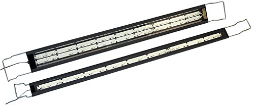 SeaStar Aquarium Lighting Double Strip Lights (Mixed 10000K White and 456 nanometer Actinic Blue), Large (Actinic Aquarium Lighting)