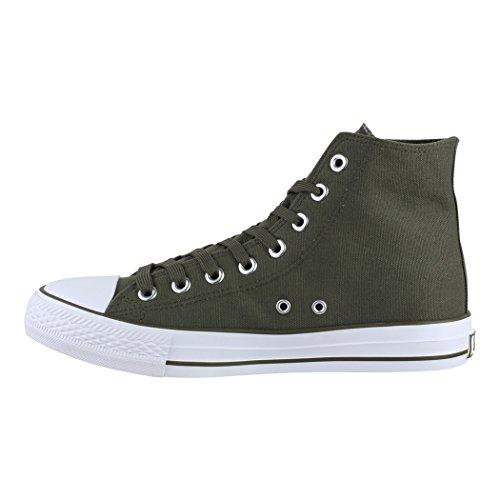 Loisirs Green Chaussures de Sneakers Elara Unisexe High de Sport Top Tissu Chaussures Dk 7q7IvTxwFX