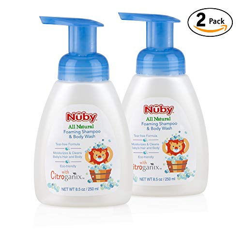 - Nuby All Natural Foaming Baby Shampoo & Body Wash with Citroganix, 8.5 Fl Oz (2 Pack)