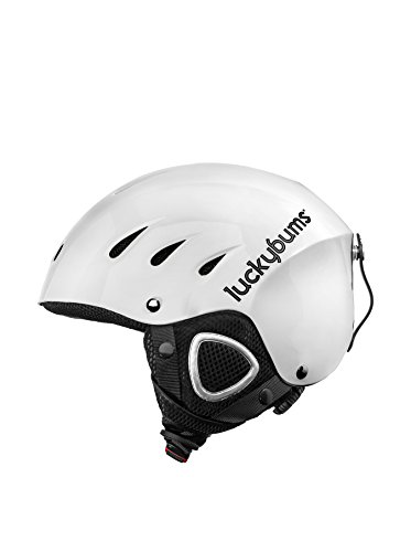 Lucky Bums Snow Sport Helmet, White, Small