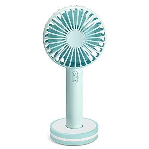 Vantrends Battery Operated Fan Mini Cooling Fan Handheld Fan for Women with Makeup Mirror Maximal Rotating 4500rpm 2000mA 3 Speed -