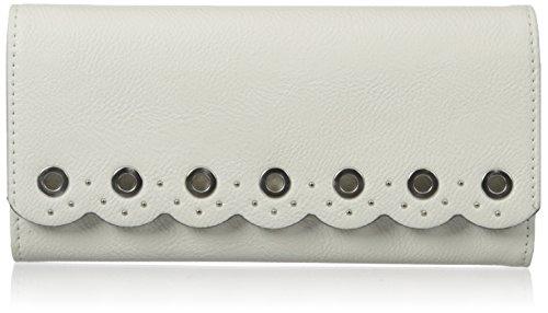 Nine West Women's Scallop Continental Wallet, Snow Petal, One ()
