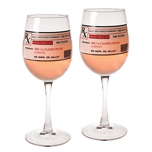 Prescription Wine Glasses - Set Of 2 (Napa Gift)