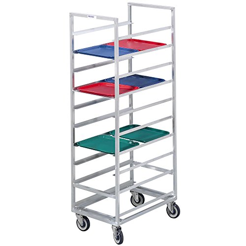 Channel 446S 30 Tray Bottom Load Stainless Steel Cafeteria Tray Rack - Assembled ()